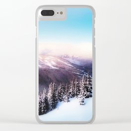 Dreamy morning scene Clear iPhone Case