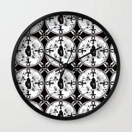 Ankh Anubis Alchemy Wall Clock