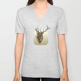 Elk Portrait - In the Roar Unisex V-Neck