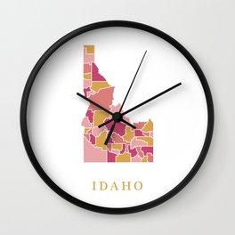 Idaho map Wall Clock