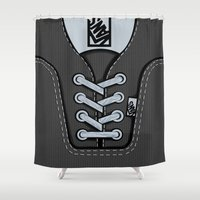 vans Shower Curtains featuring Black Gray Vans shoes iPhone 4 4s 5 5s 5c, ipod, ipad, pillow case and tshirt by Three Second