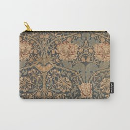 Honeysuckle by William Morris 1876,  Printed Linen, Vintage Pattern, CC0 Spring Summer Carry-All Pouch