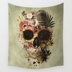 Garden Skull Light Wall Tapestry