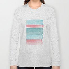 Minimalist Rose and Mint Print Long Sleeve T-shirt