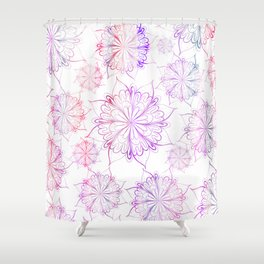 Hand painted pink lilac watercolor floral mandala Shower Curtain