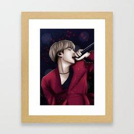 bts suga seesaw Framed Art Print