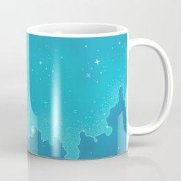 Aqua Pixel Skyscape Coffee Mug