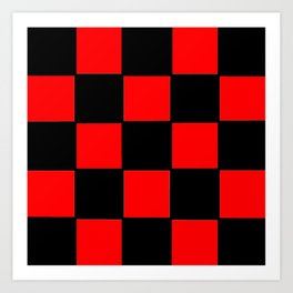 Damier 2 red and black Art Print