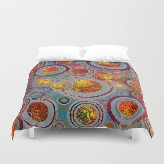 Full of Golden Dots Duvet Cover