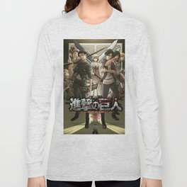 shingeki no kyojin poster 3 Long Sleeve T-shirt