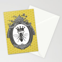 Queen Bee | Vintage Bee with Crown | Honeycomb | Stationery Cards