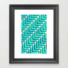 Pixel Repeat no.1 Framed Art Print