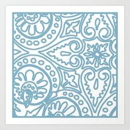 Dulce Wedgwood Blue Art Print