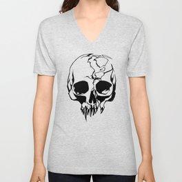 vampire skull Unisex V-Neck