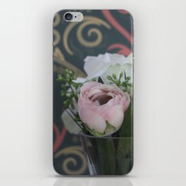 Pink and White Bouquet iPhone Skin