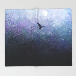 Flight of the Ravens Throw Blanket