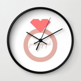 Just engaged Wall Clock