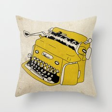 Grunge Typewriter Throw Pillow