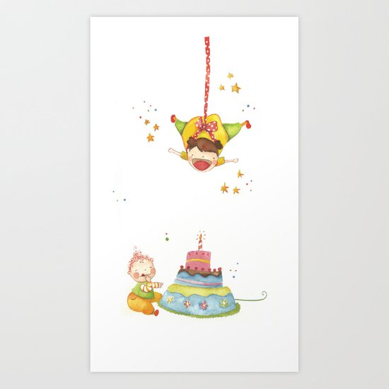 Baby birthday Art Print