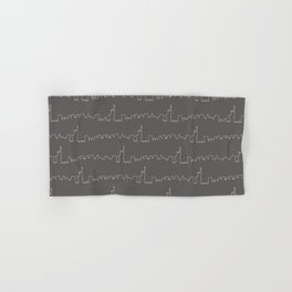 New York Skyline // Charcoal Grey Hand & Bath Towel