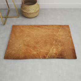 Natural dark orange,brown color leather skin natural with design lines pattern or red abstract background Rug