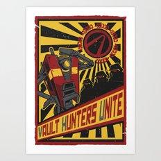 Vault Hunters Unite Art Print