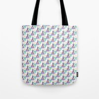 pablo picasso Tote Bags featuring pablo by cardboardcities