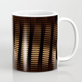 Spinning Columns - Dark Copper - Futuristic Industrial Sci-Fi Pattern Coffee Mug