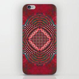 Deepest Velvet Crimson Boho Moroccan Tile Mandala iPhone Skin