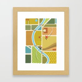 from above in the skies of Picardy Framed Art Print
