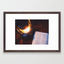 A lamp unto my feet. Framed Art Print