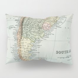 Vintage Map of the South of America Pillow Sham