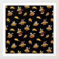 I Can Haz Cheeseburger Spaceships? Art Print