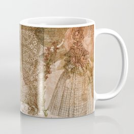 Vintage & Shabby Chic - Victorian ladies pattern Coffee Mug