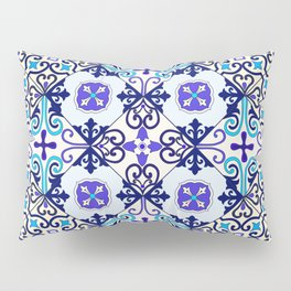 Turquoise Moroccan tile seamless pattern Pillow Sham