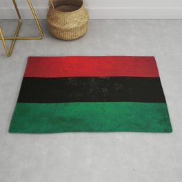 Distressed Afro-American / Pan-African / UNIA flag Rug