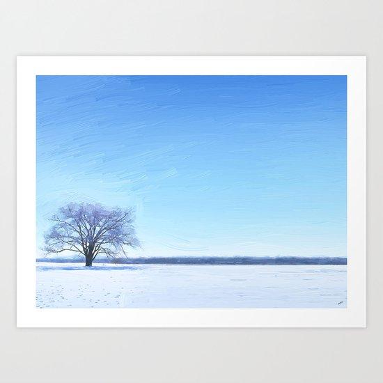 Shades of Winter Art Print