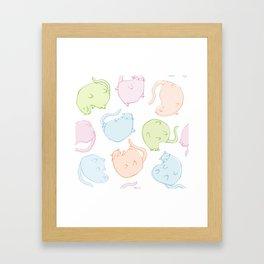 Cat Blobs Cats Framed Art Print