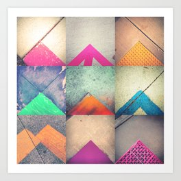 Bright Triangles Art Print
