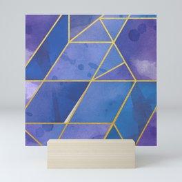 Shattered Sapphire 2 Mini Art Print