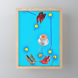 Things Happen to May in May - Shoes Stories Framed Mini Art Print