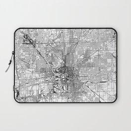 Indianapolis White Map Laptop Sleeve
