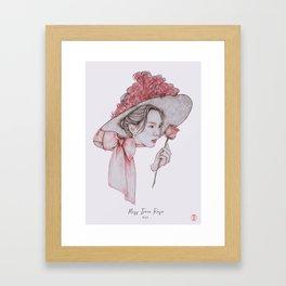 Miss Irene Rose Framed Art Print