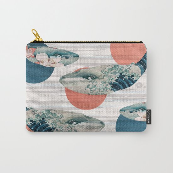 Whales and Polka Dots Carry-All Pouch