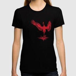 Crimson Crane T-shirt