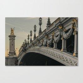 Paris - Pont Alexander III Canvas Print