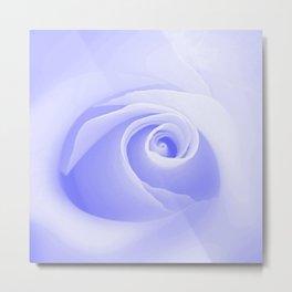 Periwinkle Blue Rose Metal Print