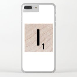 Scrabble Tile - Letter I - Letter Art Clear iPhone Case
