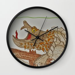 Alligator Snapping Turtle Wall Clock