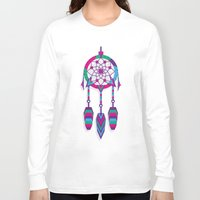 dreamcatcher Long Sleeve T-shirts featuring Dreamcatcher by Angel Decuir